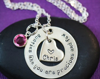 Aunt Necklace • Aunt Birthday Gift • Aunt Quote • Aunts Like You are Precious Few • Sister Gift ...