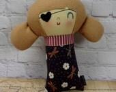 Harlow Pirate Girl // Pirate Doll // Handmade Doll // Rag Doll // Valentine Gift // Nursery Decor // New Baby Gift