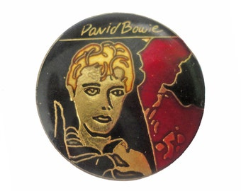 DAVID BOWIE vintage enamel pin button badge Hunky Dory Ziggy Stardust Low Heroes Lodger