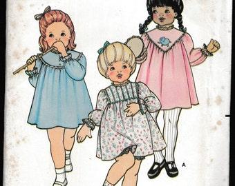 Butterick 3502 Toddlers Dress and Panties