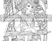 "Art of Meadowhaven Fantasy Coloring Page Download: ""Elf Pirate"""