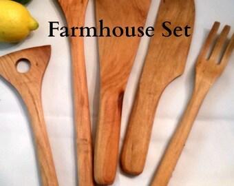 Farmhouse Wood Spoon Gift Set