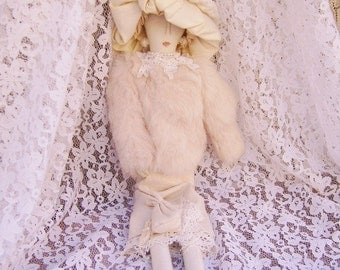 Vintage Estate Cloth Handmade Carmen Manago Boudoir Doll