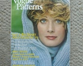 Vogue Patterns Magazine Jan/Feb 1975  104 Pages of Fashion Photography, Illustration, Ads, and Articles