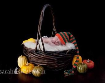 10% off SALE  Newborn photo prop, newborn hat,newborn boy,newborn girl,knit newborn hat,newborn halloween hat,newborn props, Newborn elf hat