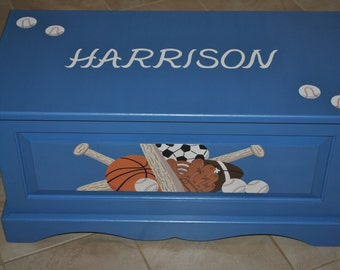 Kids Toychest - Childrens Toychest - Sports - Toybox - Storage -Baseball -Football -Basketball -Soccer -Furniture and Decor -Kids' Furniture