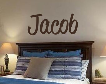 Boys Name- Vinyl Wall Decal- Nursery Decor- Children Wall Art- Personalized Name- Bedroom Decor