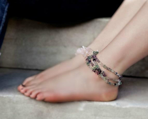 Boho Gemstone Anklet Wrap