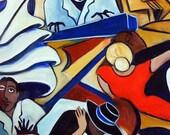 The Bleu Piano, giclee