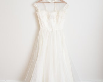 Vintage 1970s Dress - 70s Prairie Wedding Gown - The Savannah