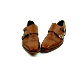 Allen Edmonds Pebble Grain Leather Loafers with Monk Strap // Size 12 D // EXCELLENT Condition // Allen Edmonds Mora