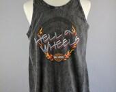 SALE - Vintage Harley Davidson Gray Burn Out Hell On Wheels Hacienda Scottsdale AZ Muscle Tee Shirt - Mens Size Large