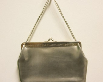 Vintage 1970's Gold Leather Evening Bag
