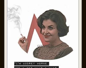 Audrey Horne Sherilyn Fenn Twin Peaks Minimalist Art Print