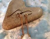 Antique Copper Drop Earrings