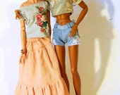 Mix and match - vintage print crop top for FR16 Tonner Minifee MSD BJD 1/4 scale