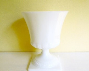 Vintage Milk Glass Planter, Vase, Compote, Vintage Wedding Decor