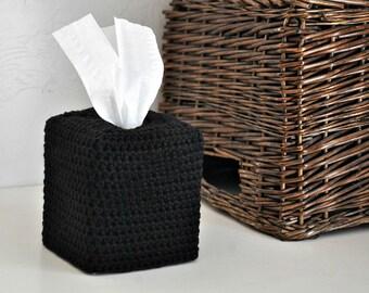 Black Square Tissue Box Cover Nursery Decoration Home Decor Kleenex Box Cover