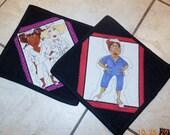 Medical mug rug, spunky, set of 2, hot choclate, coffee ,tea, milk, mug mat, snack mat, nurse, candle mat, gift