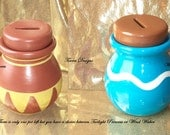 Legend of Zelda Ceramic Item Pot Bank - Choice Between Twilight Princess or Wind Waker - Hand Painted Custom made by TorresDesigns
