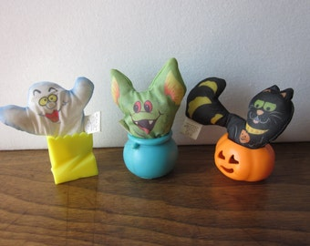 Halloween Smooshees Set of 3 - Ghost, Goblin, Cat