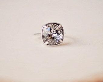 Swarovski Ring Black Patina Ring Swarovski Patina Black Crystal Ring Swarovski Crystal Ring Swarovski Black Patina Ring Gold Black