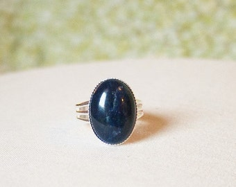 Dark Blue Ring Blue Sodalite Ring Blue Stone Ring Blue Gemstone Ring Sodalite Gemstone Ring Dark Blue Gemstone Sodalite Ring
