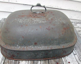 Vintage Metal Food Dome