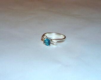 London Blue Topaz Ring Sterling Silver .925