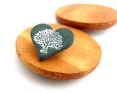 I LOVE TREES Mini Metallic Green Tree Brooch, Badge, Pin, Polymer Clay, Supremily Jewellery