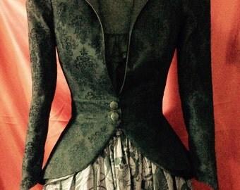 Victorian Steampunk Steamgoth Lolita Goth style Bustle Jacket Black
