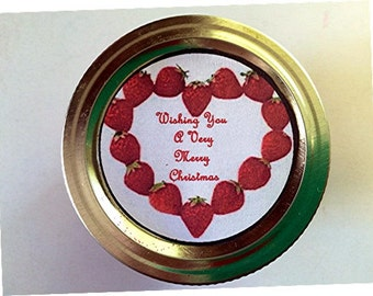 Canning Jar label Christmas design -  PDF handmade tag  - Mason Jar Label - CanningJar Tag  -  Christmas  Gift  Tag