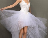 White Swan Wedding Dress Ballerina Angel ,Faery ,Princess, One of A Kind Vintage Button Back