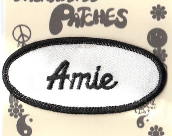 1970s Old School Embroidered Uniform - Amie - Name Patch - Oval Shape
