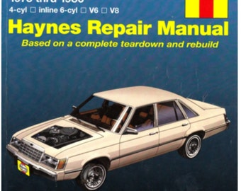 1975 thu 1986 Ford & Mercury Repair Service Manual for Mid-Size Models - Haynes Softcover Manual