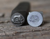 Elephant Metal Stamp-8mm Size-Steel Stamp-New Metal Design Stamps-by Metal Supply Chick-DCH55