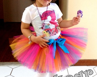 Birthday My Little pony Shirt + Tutu Outfit (any age)