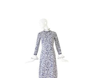 1960s Designer SAKS GOLDWORM Dress • 60s Op Art Sheath Dress • Medium • M