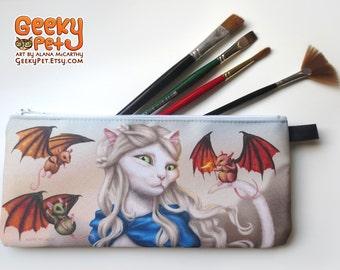 "Katleesi Daenerys Mother of Dragons zippered pencil case 9"" x 4"""
