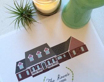 Custom Illustrated House