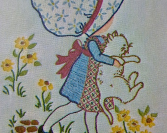 70s Holly Hobbie Embroidery Pattern Simplicity 6005 UNCUT