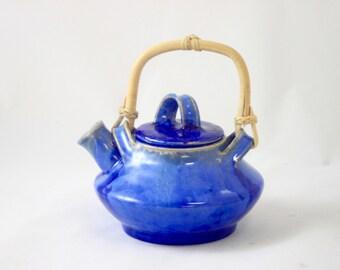 Personal Teapot, Cobalt Crystalline