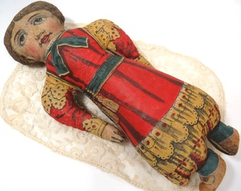 Antique Cloth Lithography Doll, Patent Date 1902, Sew & Stuff Soft Doll