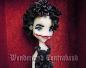 NEW - The Black Dahlia - ORIGINAL OOAK Miniature Sculpture - Decor