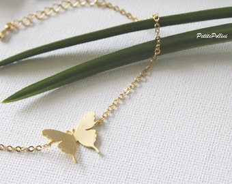 Butterfly Bracelet in Silver/ Gold. Garden. Nature. Dainty and Modern. Bridesmaid Gift. Gift For Her (PBL-24)