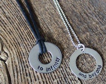 Couples Necklaces - Sterling Rings For Him And Her- By Rawkette