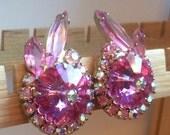 Juliana - Delizza and Elster - Pink Margarita Earrings