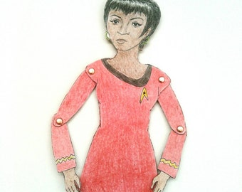 Uhura Star Trek Paper Doll