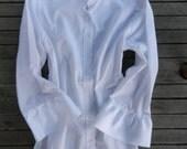 NEW White Ribbon Trim 3/4 sleeve Shirt; S34RW01
