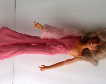 Farrah Fawcett Doll Mego Wearing Pink Panther Cher Jumpsuit